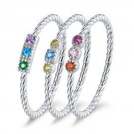 Sterling zilveren ring Trio