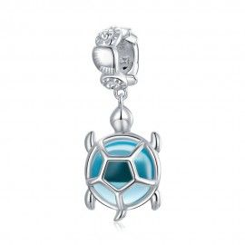 Sterling silver pendant charm Turtle