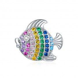 Zilveren bedel Vis