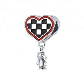 Sterling silver pendant charm Chess