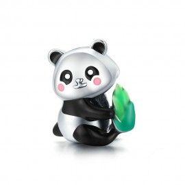 Zilveren bedel Pandabeer