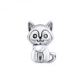 Zilveren bedel Puppy
