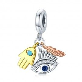 Sterling silver pendant charm Guardian