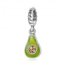 Sterling silver pendant charm Avocado