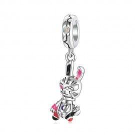 Sterling silver pendant charm Robot rabbit