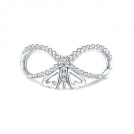 Sterling silver charm Shining butterfly