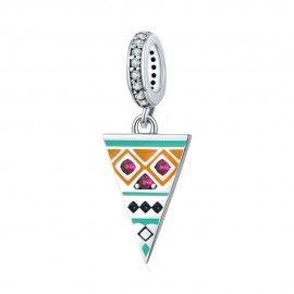 Zilveren hangende bedel Triangel