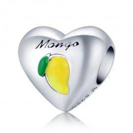 Sterling silver charm I love mango