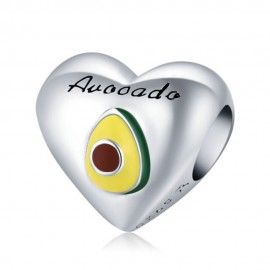 Sterling silver charm I love avocado