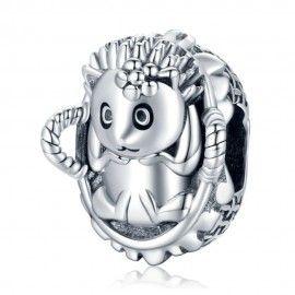 Sterling silver charm Baby hedgehog