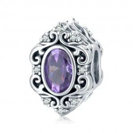 Sterling silver charm Mysterious purple