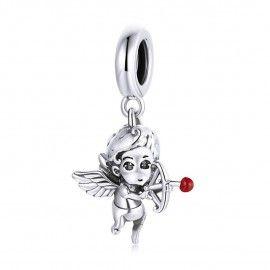 Zilveren hangende bedel Cupido