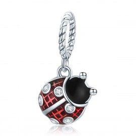 Sterling silver pendant charm Ladybug