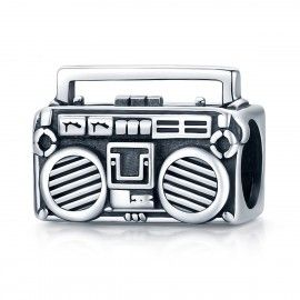 Sterling silver charm Retro radio