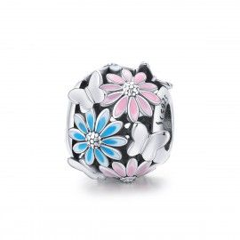 Sterling silver charm Bright daisy