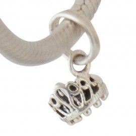Zilveren hangende bedel kroon