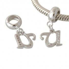 Charm in argento lettera U