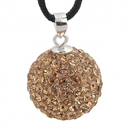 Silver pendant with swarovski crystals