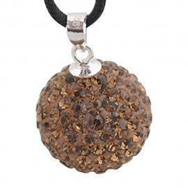 Silber Charm mit Swarovski Steinen