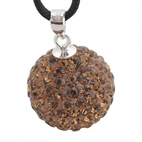 Zilveren hangende bedel met swarovski steentjes