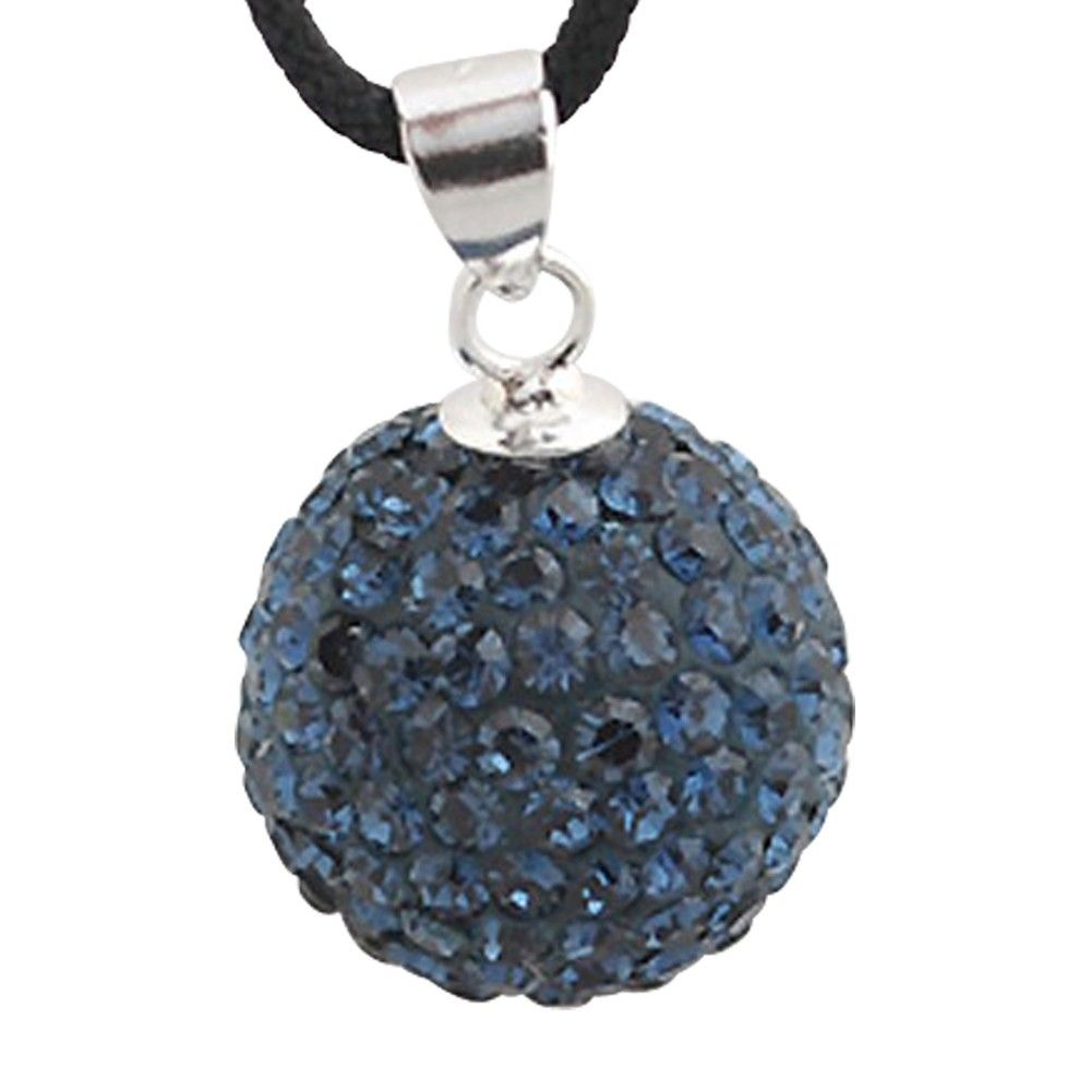 Charm in argento con cristalli swarovski