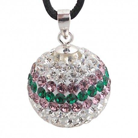 Charm d'argent avec cristaux de swarovski