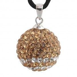Charm pendentif en argent avec cristaux de swarovski