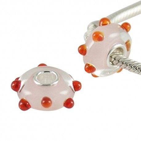 Charm en plata y cristal de murano