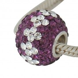 Sterling silver charm with swarovski crystals