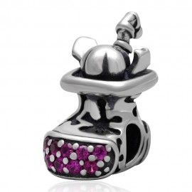 Sterling silver charm Shoe with presents