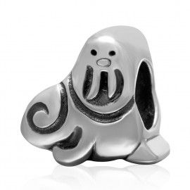 Sterling silver charm Ghost