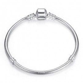 Bracelet en argent maille serpent