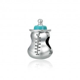 Sterling silver charm Baby milk bottle