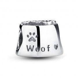Zilveren bedel hondenpoot