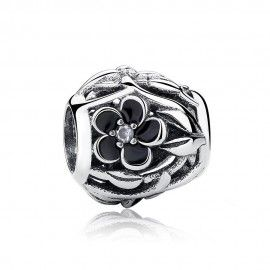 Sterling silver charm mystic flower