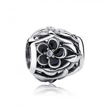 Sterling silver charm mystic flower