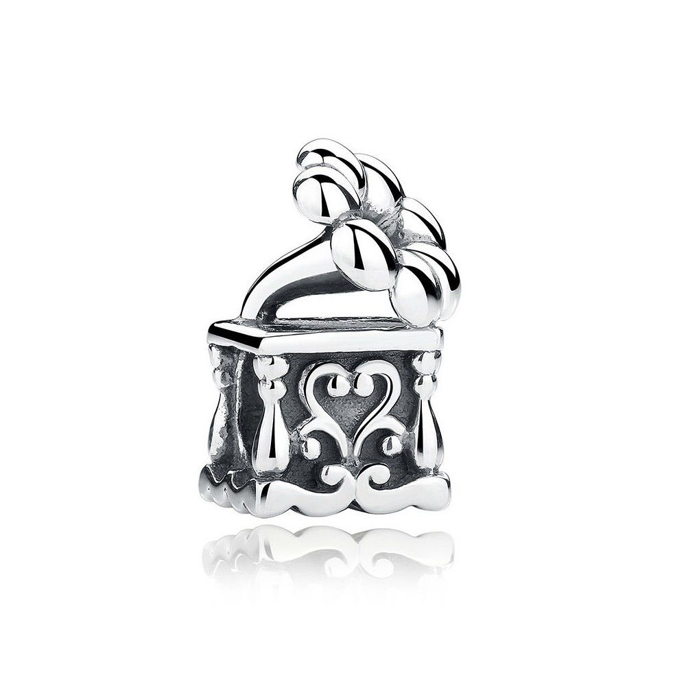 Sterling silver charm musical phonograph
