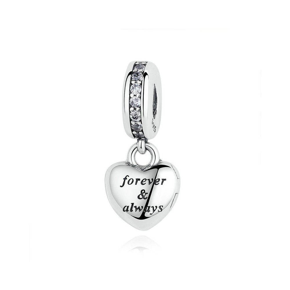 Sterling silver pendant forever & always