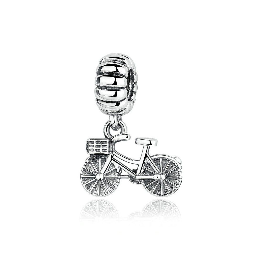Sterling silver pendant bicycle