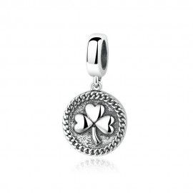 Sterling silver pendant clover