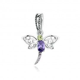 Sterling silver pendant charm dragonfly