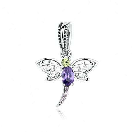 Sterling silver pendant dragonfly