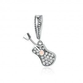 Sterling silver pendant charm Guitar