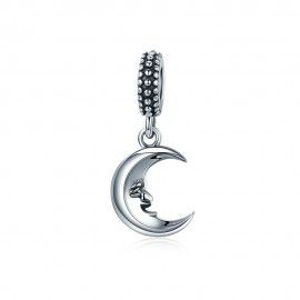 Sterling silver pendant smyling moon