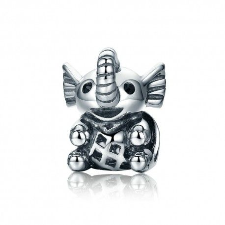 Sterling silver charm baby elephant