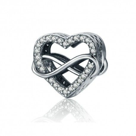 Sterling silver charm Endless love