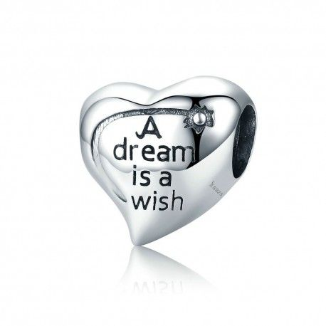 Sterling silver charm A dream is a wish