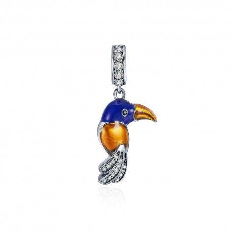 Sterling silver pendant Parrot