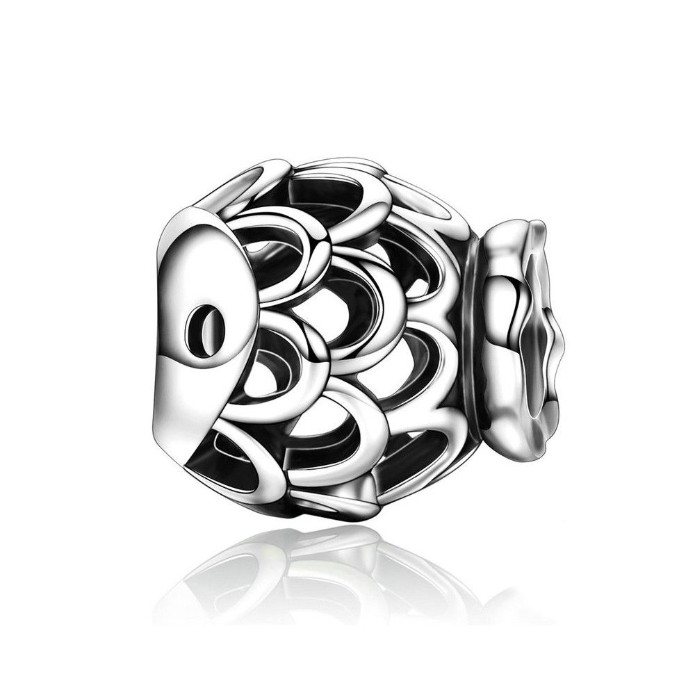 Sterling silver charm Fish
