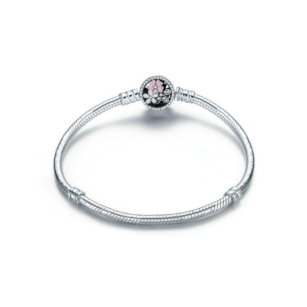 Sterling silver charm bracelet (S925)